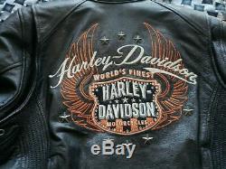 Harley Davidson Womens Leather Jacket MOXIE Large Riding Gear Goatskin Leather