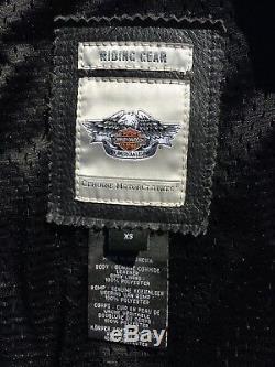 Harley Davidson Womens MAJESTIC Studded Eagle Black Leather Jacket 97082-12VW XS