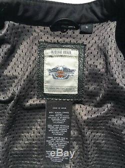 Harley Davidson Womens Reflective Willie G Skull Leather Jacket Small 3-in-1