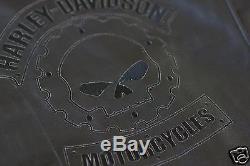 Harley Davison Men's Black Iron Bound Leather Biker Jacket 97050-11VM 2XL