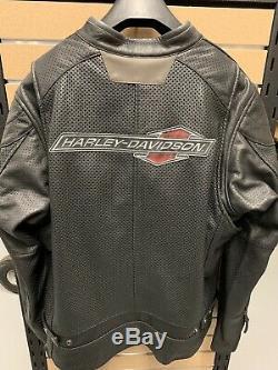 Harley-davidson Mens Perforated Leather Jacket