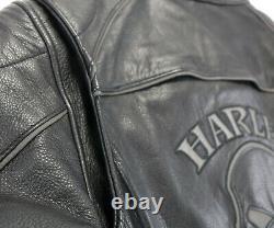 Harley davidson jacket L willie g REFLECTIVE SKULL + HOODIE bar 98152-09VW zip