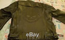 Harley davidson willie g skull xl leather jacket