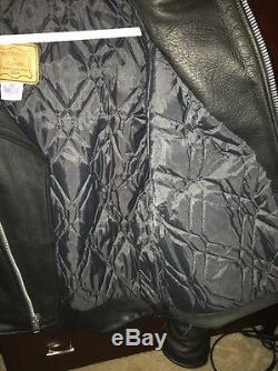 Heavy Quality Men's Biker Leather Jacket By Walter Dyer MADE IN USA 42 Meduim