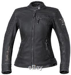 Held Ladies Leather Jacket Asphalt Queen black soft Motorcycle in Used optics