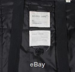 Helmut Lang Vintage Astro Biker Bondage Men Long Jacket Coat Size 48