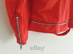 Helmut Lang Year 1999 Astro Sport Jacket Red / Orange Neon Motor Cycle Rider