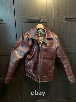 Himel Bros THE IMPERIAL MEDIUM BROWN SHINKI HORSEHIDE Leather Jacket 42-44
