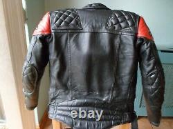Honda Racing Vintage Leather Biker Jacket-size 36 Uk-xs-small-diamond Padding