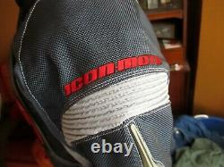 ICON Contra Motorcycle Jacket. Lightly used. Large WORN ONCE BLACK/GRAY/RED