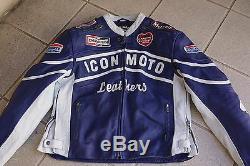 ICON DAYTONA LEATHER JACKET XL motorcycle