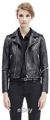 IRO Chaya Leather Jacket Black Lambskin SZ 36 US 2 (RUNS SMALL)