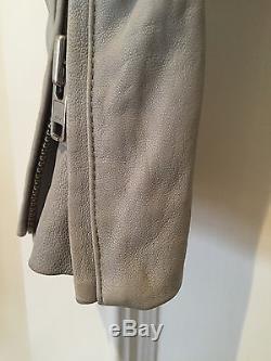 IRO Leather Jacket Light Grey FR34 XS 0