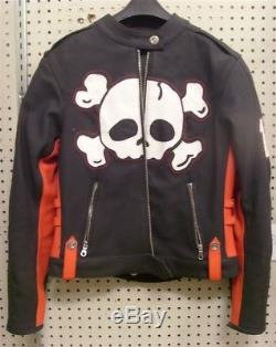 Icon Moto Hella Crossbone Racer Size Medium M Leather Motorcycle Jacket Used 13