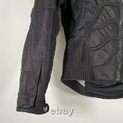Icon TiMax Titanium Motorcycle Biker Jacket Armored Textile Mesh Black Mens Sz M