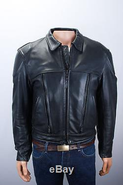 JOHNSON LEATHERS Mens Motorcycle Jacket PADDED Size 42 Medium Pre-owned