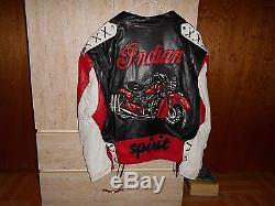 Jeff Hamilton Collectiable Indian Motorcycle Leather Jacket Size M