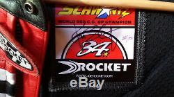 Joe Rocket Suzuki Kevin Schwantz Leather Motorcycle Jacket, 35/100 Signed