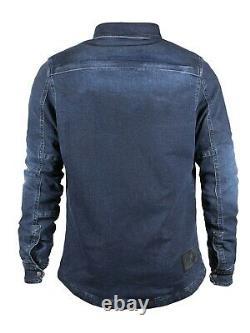 John Doe Motoshirt Dark Blue Used Gr. L Motorrad Aramid Hemd Jacke Herren