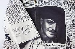 John Galliano For Christian Dior Newspaper Jacket Gazette Monogram Vintage Logo