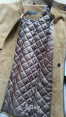 John Varvatos Collection Suede Leather Jacket Size 50 EU 40 US Rare