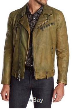 John Varvatos Lambskin Moto Leather Jacket