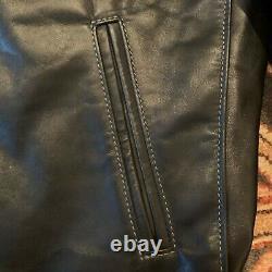 Johnson Leathers Custom Horween Horsehide Jacket, Black, Size 42, Talon Zips