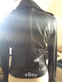 Joie Aliey Black Leather Jacket Small