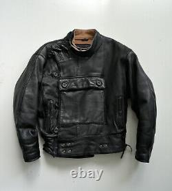 Kadoya Black Goat Leather Swedish Motorcycle Jacket Japan