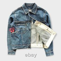 Katharine Hamnett London Studded Denim Jacket Medium Helmut Lang Vintage