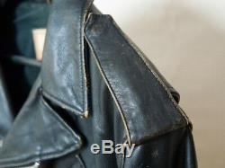 LEATHER MOTORCYCLE JACKET - INDIAN - RARE - MADE IN FRANCE Medium