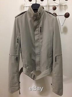 LEGENDARY Dior Homme S/S 03 Follow Me Motorcycle Jacket Size 46 Hedi Slimane