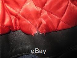 LEWIS LEATHERS Aviakit LIGHTNING Black Leather Motorcycle Jacket Size 44