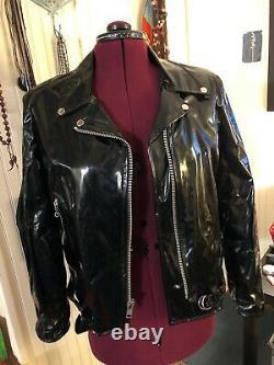 LIP SERVICE vintage vinyl motorcycle jacket 1988