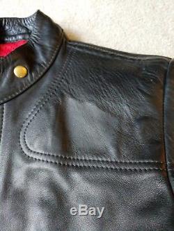 LOOK! Vanson Cafe Racer style leather motorcycle jacket Very little wear. Sz 40