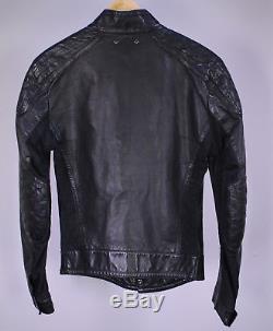 LOUIS VUITTON Very Recent Black Leather Biker Moto Slim Fit Jacket XS