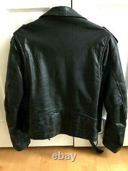 La Roxx Size Medium Black Genuine Leather Motorcycle Jacket Hollywood Punk Mens