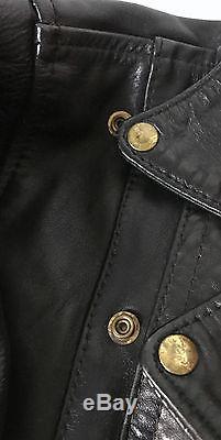 Langlitz Black Leather Motorcycle Jacket Men's 44XL