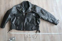 Langlitz Columbia Motorcycle Jacket Black Cowhide Cycle Coat USA XXL 50 Ann