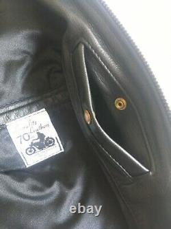 Langlitz Crescent Custom Motorcycle Leather Jacket Mens 42