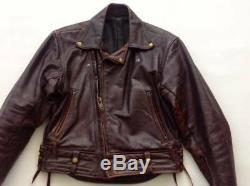 Langlitz Custom Men's Black Leather Motorcycle Jacket Nice condition Vintage