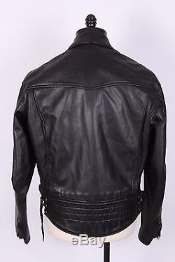 Langlitz Goatskin Leather Columbia Motorcycle Jacket Size 46 2006 Mint