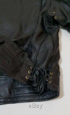 Langlitz Leather Mens Classic Columbia Jacket Motorcycle Riding USA Size 52