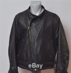 Langlitz Leathers Cowhide Columbia Jacket Size L Large 46 Near Mint Condition