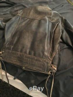 Langlitz Leathers Jacket Mens 44-46! Made In Portland, OR 1990