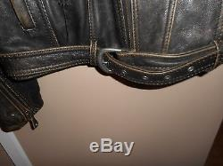 Large Men's Vintage Harley-Davidson Brown Road King Leather Jacket Rare & HTF