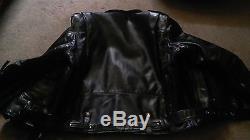 Legendary Black Stallion horsehide D pocket motorcycle jacket