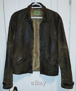 Levi's Menlo Lvc Leather Jacket/ Skyfall Leather Jacket, Size Small Fits