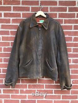 Levi's Vintage Clothing LVC Menlo Leather Jacket Bond Skyfall XL 007 Belt Back