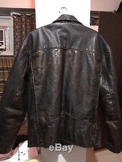 Levis LVC leather motorcycle jacket sz M $998 rrl aero schott